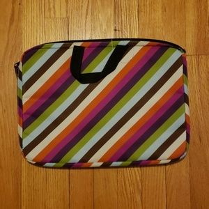NEW Purple, Blue, Green, Orange Striped LaptopBag